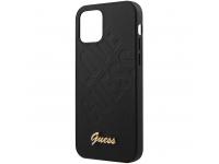 Husa Piele Guess Iridescent Love pentru Apple iPhone 12 mini, Neagra, Blister GUHCP12SPUILGBK