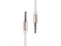 Cablu Audio 3.5 mm la 3.5 mm Remax L200, 2 m, Alb, Blister