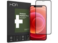 Folie Protectie Ecran HOFI pentru Apple iPhone 12 / Apple iPhone 12 Pro, PRO +, Sticla securizata, Full Face, Full Glue, Neagra