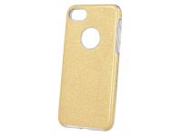 Husa TPU OEM Glitter 3in1 pentru Samsung Galaxy A21s, Aurie, Bulk