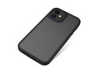 Husa TPU Nevox pentru Apple iPhone 12 mini, StyleShell Invisio, Neagra Transparenta