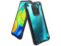 Husa Plastic - TPU Ringke Fusion X pentru Xiaomi Redmi Note 9, Neagra, Blister FXXI0024