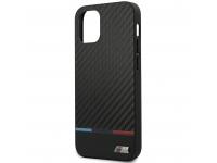 Husa Fibra Carbon BMW pentru Apple iPhone 12 mini, M Collection, Neagra, Blister BMHCP12SPUCARTCBK