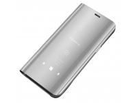 Husa Plastic OEM Clear View pentru Xiaomi Redmi 9C, Argintie, Blister
