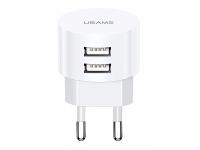 Incarcator Retea cu cablu MicroUSB - USB Type-C - Lightning Usams T20, 2 X USB, 2.1 A, Alb, Blister XTXLOGT203101