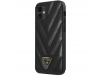 Husa Plastic - TPU Guess V Quilted pentru Apple iPhone 12 mini, Neagra GUHCP12SPUVQTMLBK