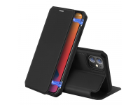 Husa Piele DUX DUCIS Skin X pentru Apple iPhone 12 mini, Neagra