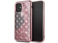 Husa Plastic - TPU Guess 4G Peony Glitter pentru Apple iPhone 11 Pro, Roz, Blister GUHCN58PEOLGP