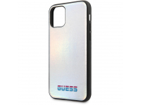 Husa TPU - Piele Guess Iridescent pentru Apple iPhone 11 Pro Max, Argintie GUHCN65BLD