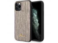 Husa Plastic - Piele Guess Lizard pentru Apple iPhone 11 Pro Max, Aurie, Blister GUHCN65PCUMLLIGO