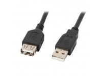 Prelungitor USB la USB Defender USB02-06, 1.8 m, AM-AF, Negru, Bulk