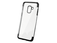 Husa TPU OEM Electro pentru Huawei nova 5T, Neagra Transparenta, Bulk