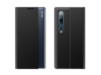 Husa Poliuretan - Piele OEM New Sleep pentru Xiaomi Mi 10 Pro 5G / Xiaomi Mi 10 5G, Neagra, Bulk