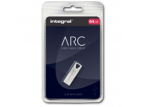 Memorie Externa Integral ARC, 64Gb, USB 2.0, Argintie INFD64GBARC