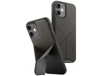 Husa Textil - TPU UNIQ Transforma Rigor pentru Apple iPhone 12 mini, Gri, Blister