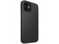 Husa TPU UNIQ Lino pentru Apple iPhone 12 mini, Neagra, Blister
