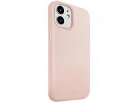 Husa TPU UNIQ Lino pentru Apple iPhone 12 mini, Roz