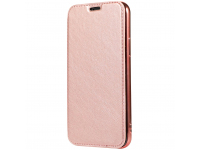 Husa Piele Forcell Electro cu spatele transparent pentru Apple iPhone 7 Plus / Apple iPhone 8 Plus, Roz Aurie, Bulk