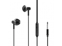 Handsfree Casti In-Ear XO Design EP19, Cu microfon, 3.5 mm, Negru, Blister