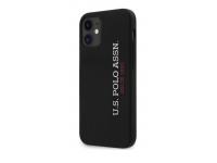 Husa TPU U.S. Polo pentru Apple iPhone 12 mini, Neagra USHCP12SSLBKV2