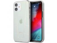 Husa TPU MERCEDES Transparent Line Iridescent pentru Apple iPhone 12 mini, Transparenta MEHCP12SCLIR
