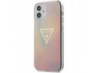 Husa TPU Guess T&D Gold Triangle 01 pentru Apple iPhone 12 mini, Roz GUHCP12SPCUMCGG01