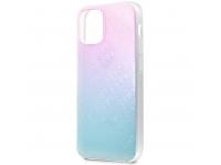 Husa Plastic - TPU Guess 3D Raised Iridescent pentru Apple iPhone 12 mini, Albastra GUHCP12S3D4GGBP