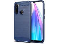 Husa TPU OEM Carbon pentru Xiaomi Redmi Note 8T, Bleumarin, Bulk