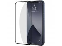 Folie Protectie Ecran Baseus pentru Apple iPhone 12 / Apple iPhone 12 Pro, Sticla securizata, Full Face, Full Glue, Set 2buc, 0.3mm, Neagra SGAPIPH61P-KA01
