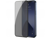 Folie Protectie Ecran Baseus Privacy Light pentru Apple iPhone 12 mini, Sticla securizata, Full Face, Full Glue, Set 2buc, 0.3mm, Neagra SGAPIPH54N-TG01