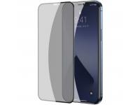 Folie Protectie Ecran Baseus Privacy Light pentru Apple iPhone 12 / Apple iPhone 12 Pro, Sticla securizata, Full Face, Full Glue, Set 2buc, 0.23mm, Neagra SGAPIPH61P-ATG01