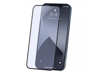 Folie Protectie Ecran Baseus Anti Blue Light pentru Apple iPhone 12 / Apple iPhone 12 Pro, Sticla securizata, Full Face, Full Glue, Set 2buc, 0.23mm, Neagra SGAPIPH61P-TE01