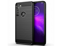 Husa TPU OEM Carbon pentru Motorola Moto G8 Power Lite, Neagra, Bulk
