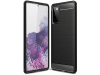 Husa TPU OEM Carbon pentru Samsung Galaxy Note 20 N980, Neagra, Bulk