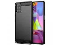 Husa TPU OEM Carbon pentru Samsung Galaxy M51, Neagra