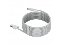 Cablu Date si Incarcare USB la Lightning Baseus, 1.5 m, 2.4A, (Set 2 Bucati), Alb, Blister TZCALZJ-02