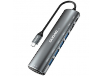 Hub USB Type-C Dudao A15, 8 in1 Multifunctional, Gri, Blister