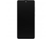Display - Touchscreen Samsung Galaxy Note 10 Lite N770, Cu Rama, Argintiu(Aura Glow) GH82-22055B