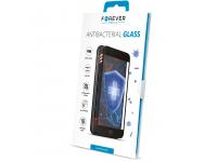 Folie Protectie Ecran Forever Antibacterial pentru Apple iPhone 12 mini, 9H, Sticla securizata, Full Face, Full Glue, Neagra