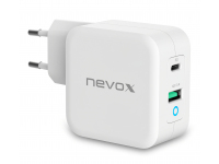 Incarcator Retea USB Nevox QC3.0, 1 X USB - 1 X USB Tip-C, 65W, Alb, Blister