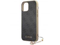 Husa TPU Guess Charms 4G pentru Apple iPhone 12 Pro Max, Gri, Blister GUHCP12LGF4GGR