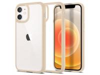 Husa Plastic - TPU Spigen ULTRA HYBRID pentru Apple iPhone 12 mini, Bej ACS02178
