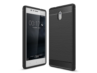 Husa TPU OEM Carbon pentru Nokia 3, Gri, Bulk