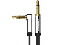 Adaptor Audio 3.5 mm la 3.5 mm UGREEN Flat, 2 m, Argintiu, Bulk
