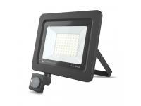 Proiector LED Forever PROXIM II, 50W, 4500K, PIR IP66, cu Senzori de Miscare, pentru Exterior, Neagra, Blister