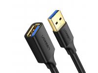 Prelungitor USB UGREEN USB 3.0 (female) - USB 3.0 (male), 1.5m, Negru, Bulk US129