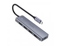 Hub USB Type-C UGREEN CM219, 4 x USB 3.0, Port Alimentare microUSB, Gri, Blister