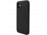 Husa Fibra Carbon Nevox pentru Apple iPhone 12, MagSafe, Neagra, Blister