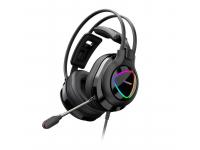Casti Gaming Tronsmart Glary Alpha RGB, cu microfon si telecomanda, 3.5 mm, Negre, Blister 370406