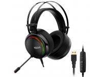 Casti Gaming Tronsmart Glary RGB, cu microfon si telecomanda, USB, Negre, Blister 333620
